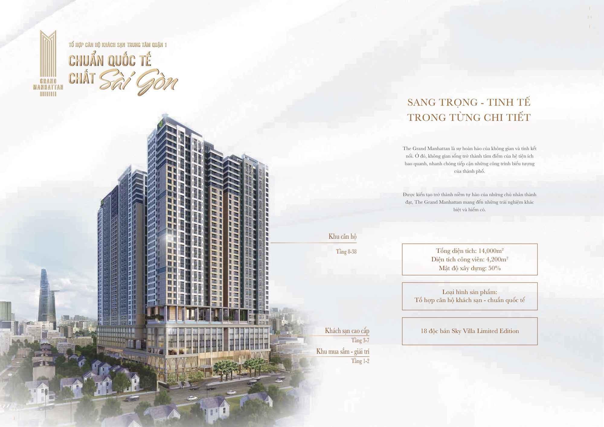 Tham khảo giá bán căn hộ The Grand Manhattan Quận 1 2021