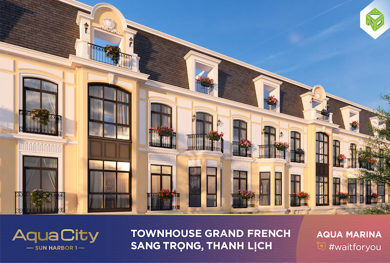 Biệt thự Aqua City theo phong cách bán cổ điển