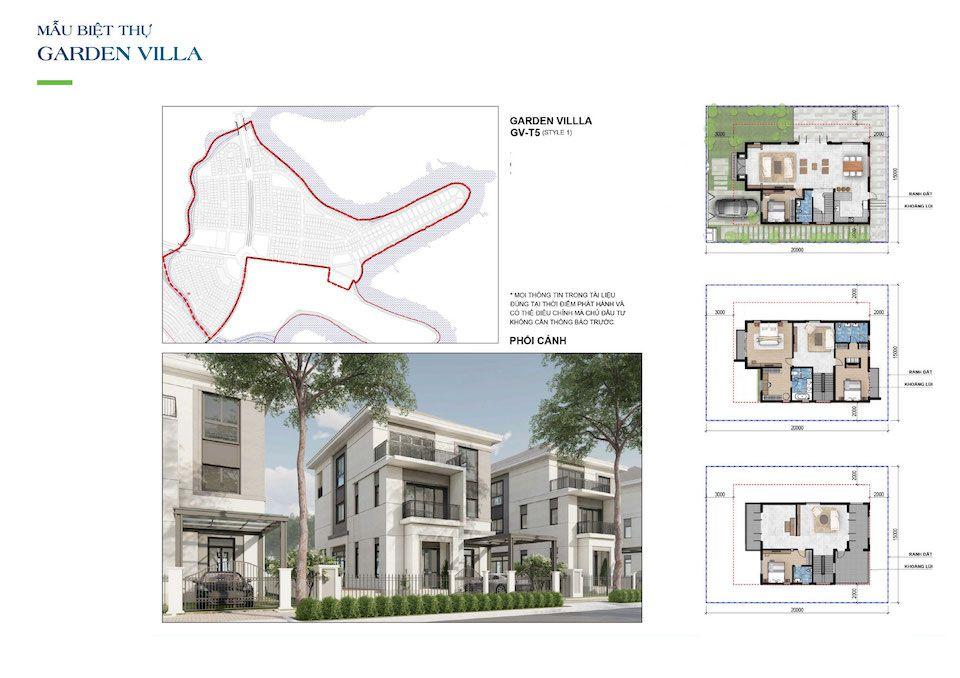 Aqua City Biên Hòa - thiết kế mẫu nhà biệt thự giai đoạn 2