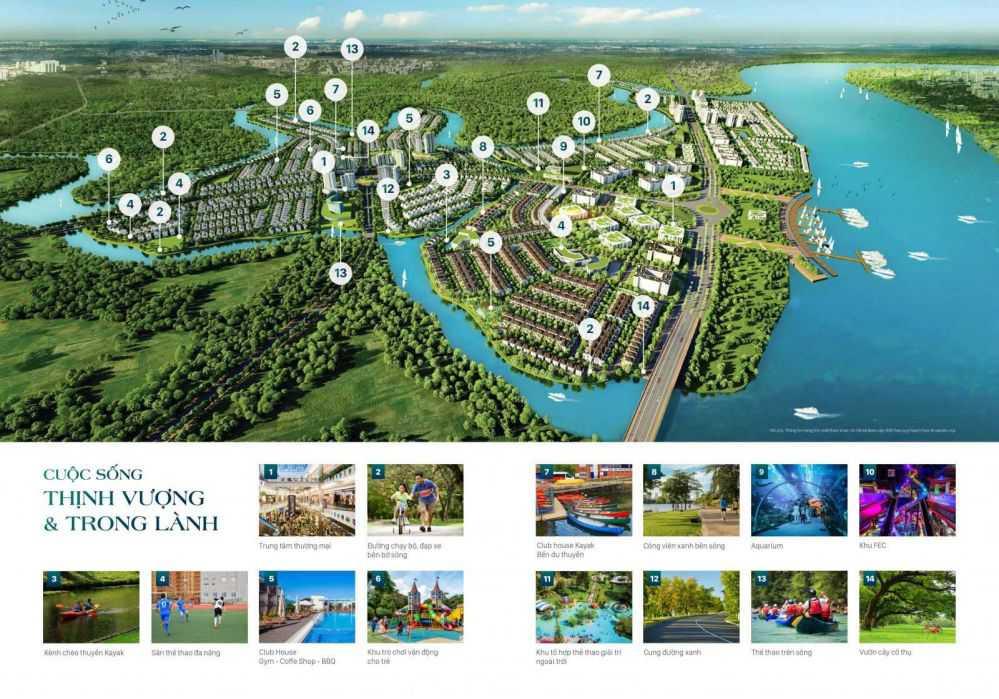 Aqua City - tiện ích nội khu