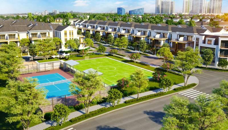 Không gian xanh dự án Aqua City Biên Hòa