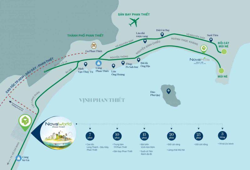 Vị trí dự án Novaworld Phan Thiết -Bình Thuận
