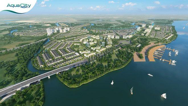 Đô thị Aqua City Biên Hòa nhìn từ trên cao