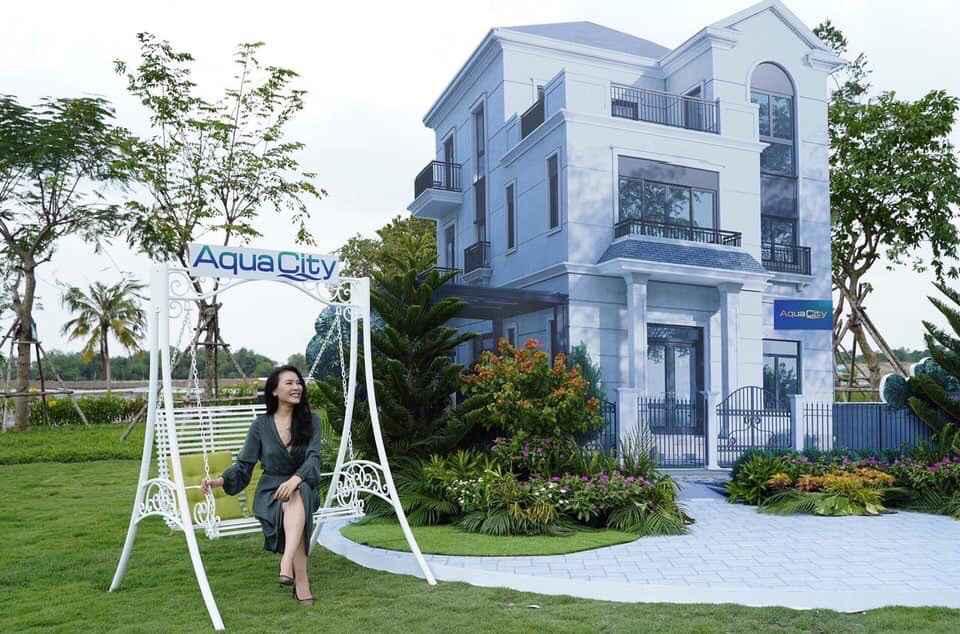 Mô hình nhà mẫu của khu đô thị sinh thái Aqua City sang trọng