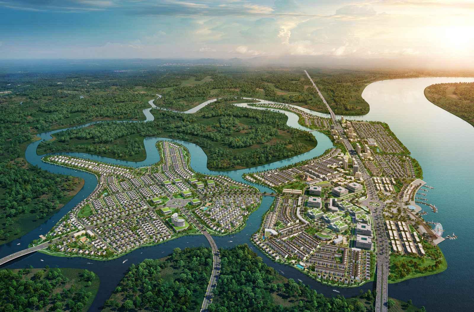 Aqua City kết hợp không gian xanh sang trọng