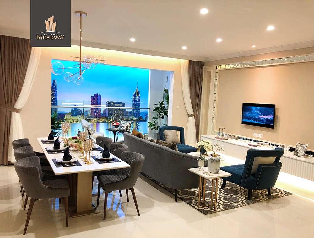 Thiết kế căn hộ thông minh Saigon Broadway