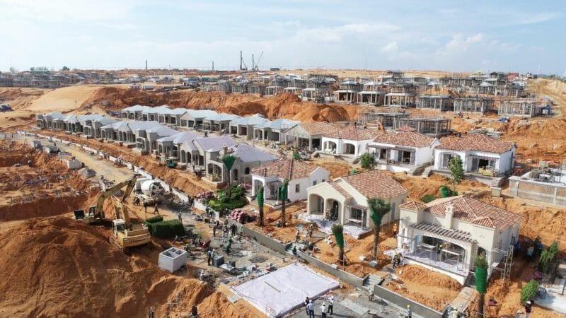 Các công trình đang được xây dựng hết sức khẩn trương