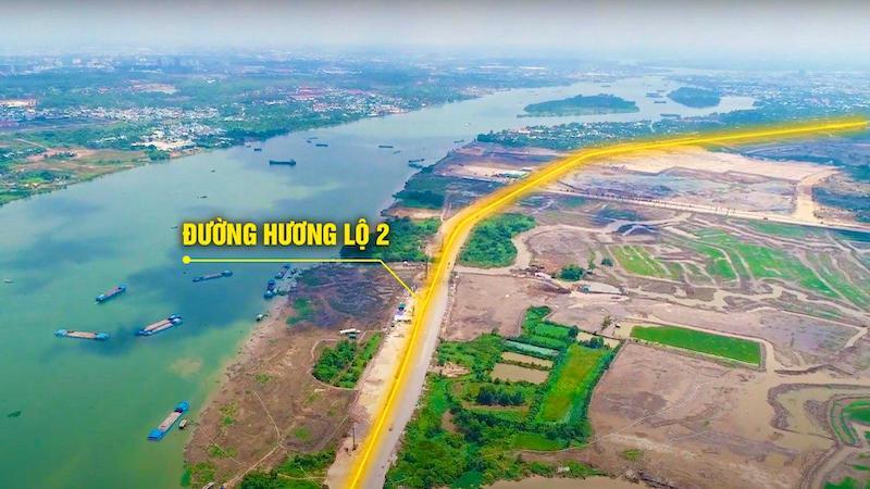 Tuyến đường Hương Lộ 2 ven sông Đồng Nai
