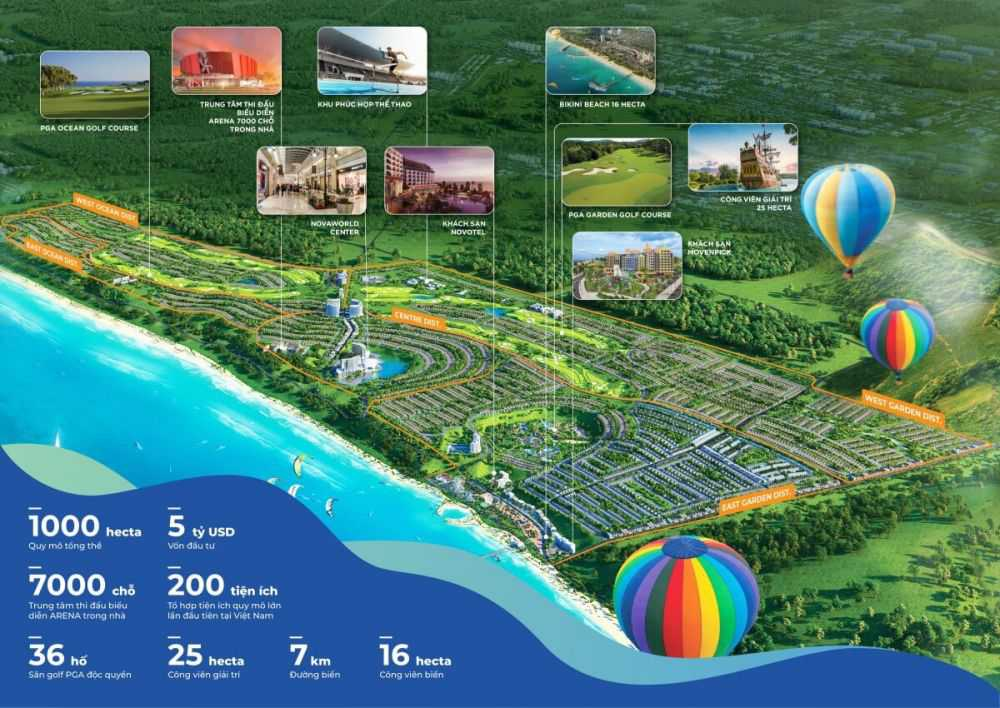 Tăng tốc hoàn thiện bất động sản ven biển NovaWorld Phan Thiết