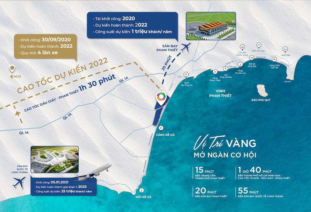Vị trí và tiến độ hoàn thành dự án NovaWorld Hồ Tràm