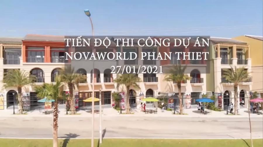 Tiến độ tháng 1/2021 dự án NovaWorld Phan Thiết