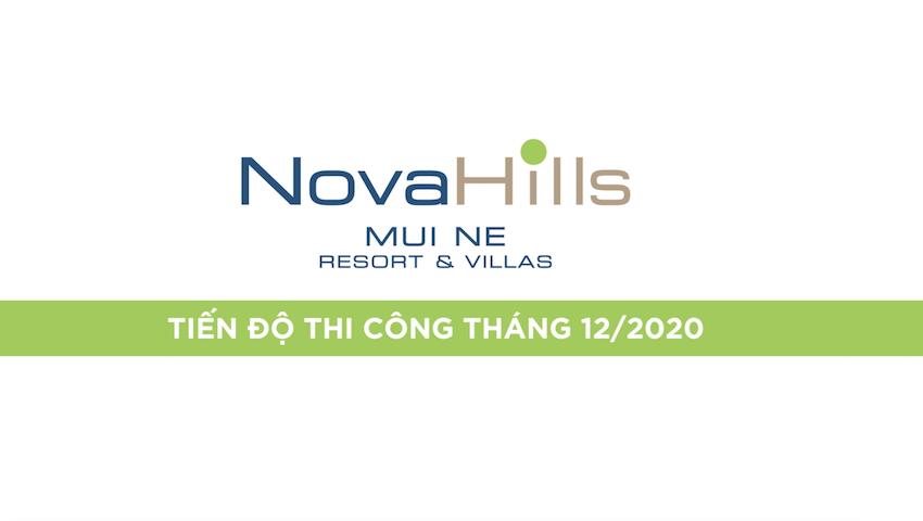 Tiến độ tháng 1/2021 dự án Novahills Mũi Né