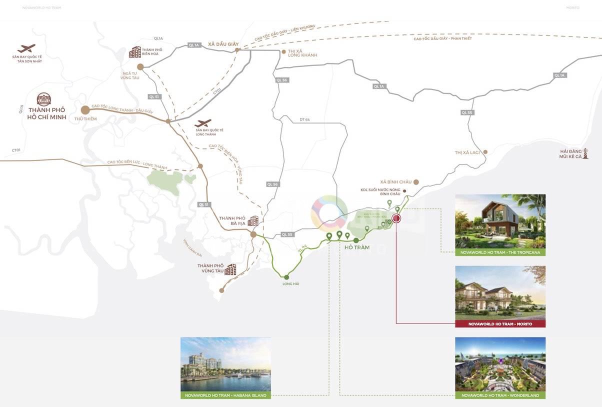 Chuỗi dự án Hồ Tràm có tiềm năng phát triển nhất khu vực phía Nam