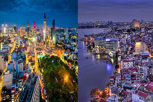 So sánh kinh tế Sài Gòn và Hà Nội dựa trên bất động sản