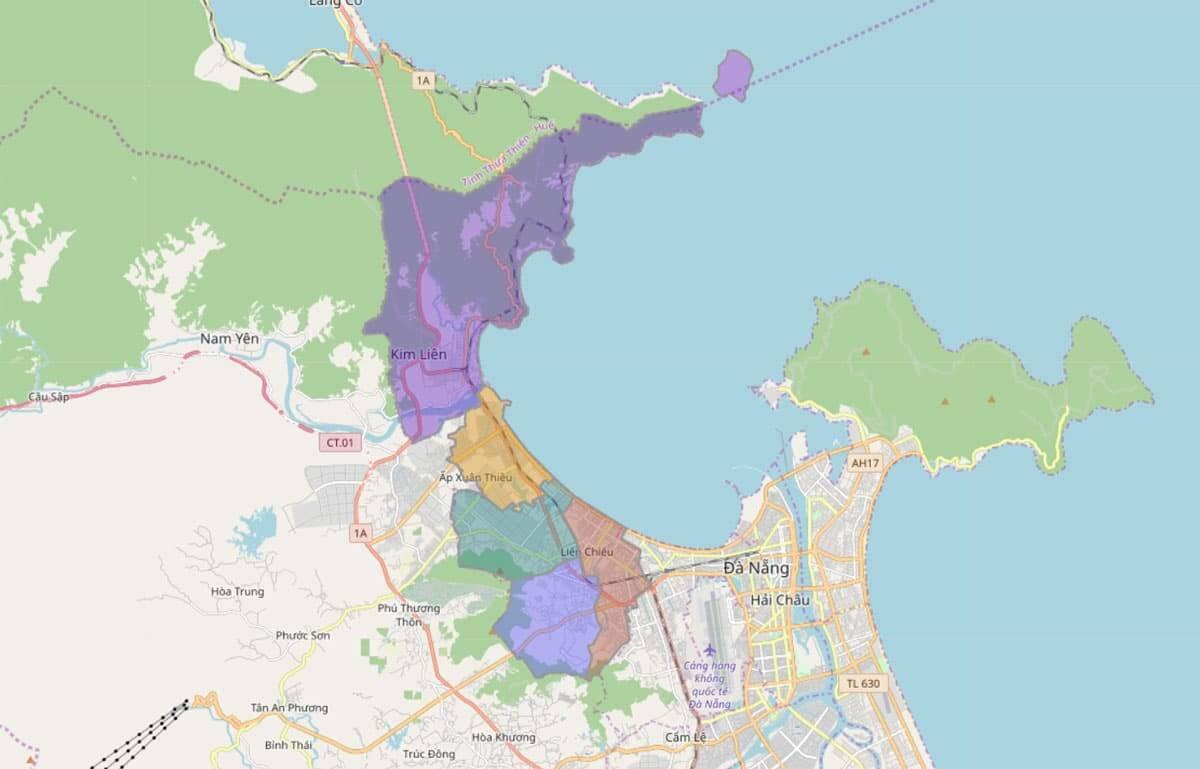 Cập nhật bản đồ quy hoạch quận Liên Chiểu Đà Nẵng mới nhất 2021