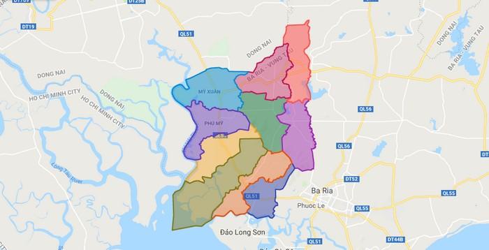 Bản đồ quy hoạch huyện Tân Thành, Bà Rịa – Vũng Tàu 2030