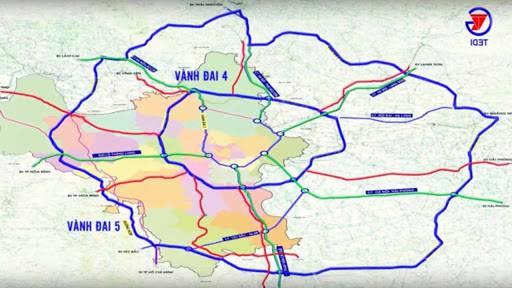 Bản đồ quy hoạch đường vành đai 5 tại Hà Nội mới nhất