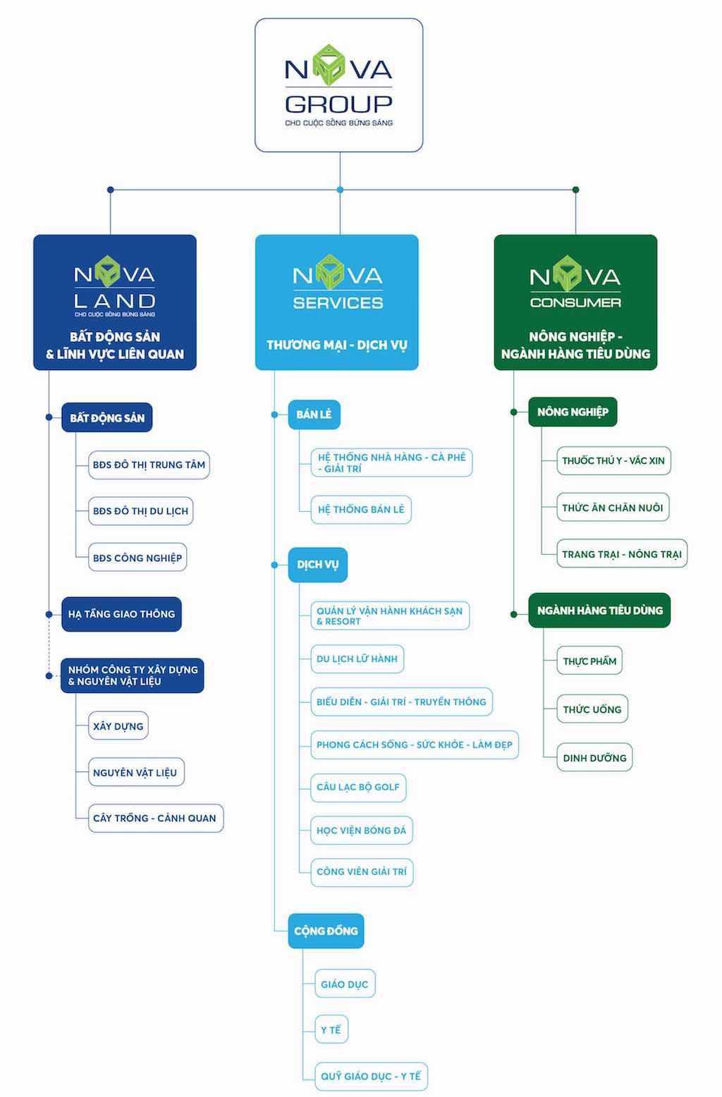 Tập đoàn NovaGroup tái cấu trúc NovaLand Group, Nova Consumer Group, Nova Service Group