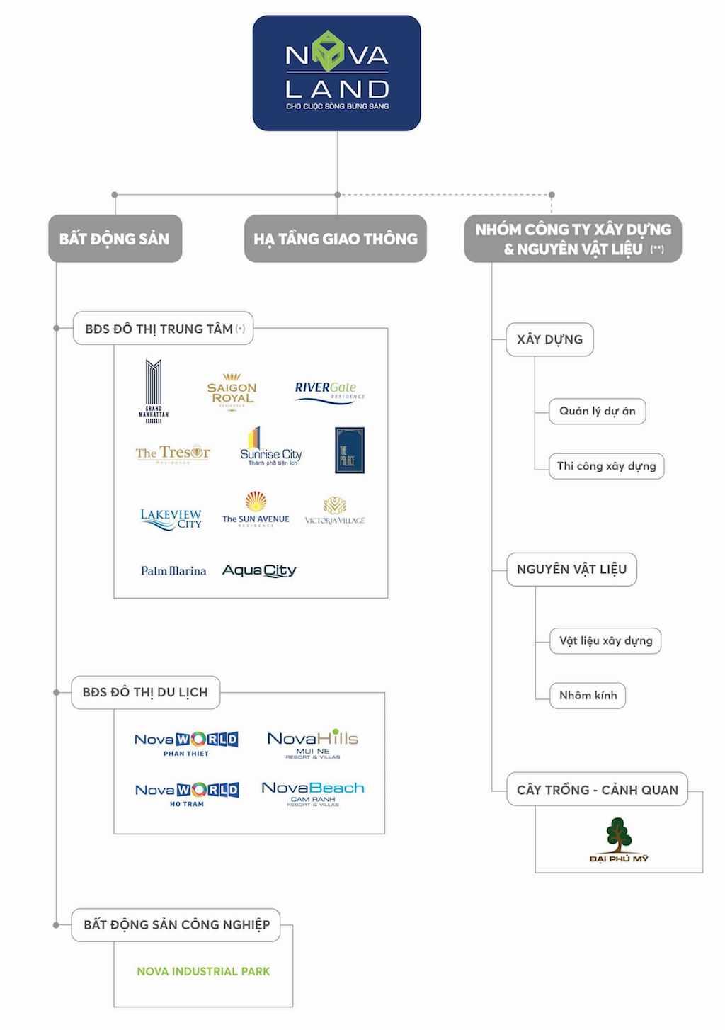 cấu trúc công ty tập đoàn NovaLand Group