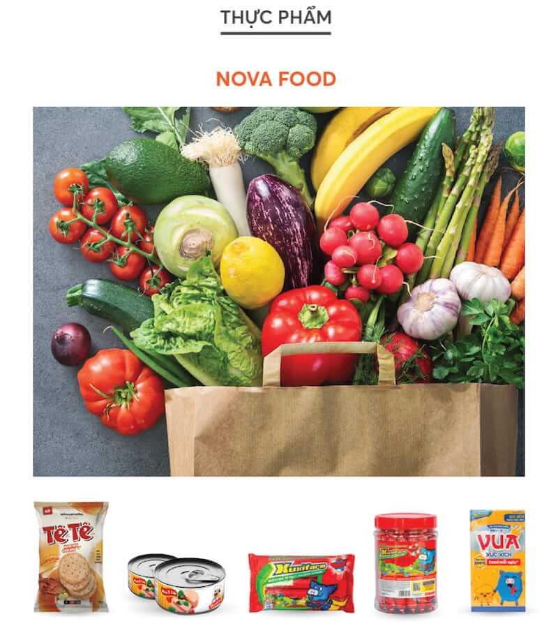 Ngành hàng tiêu dùng Nova Consumer Group thuộc NovaGroup