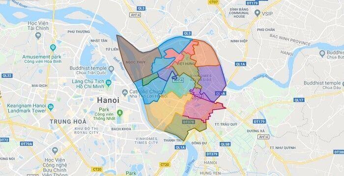 Thông tin quy hoạch quận Long Biên và bản đồ quy hoạch mới nhất 2021