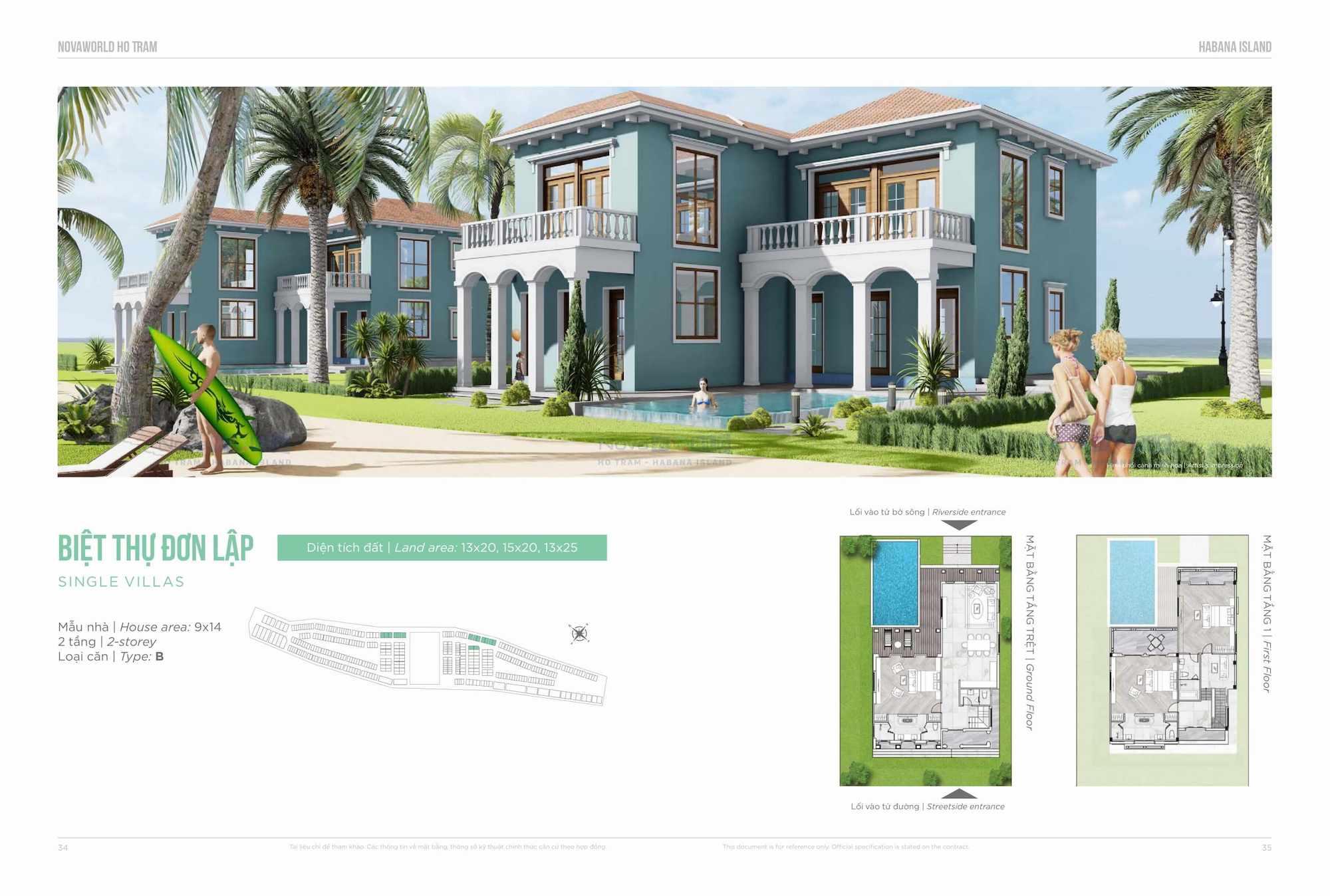Thiết kế Biệt thự đơn lập Habana Island NovaWorld Ho Tram
