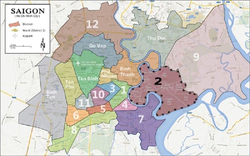 Chi tiết bản đồ quy hoạch quận 2 TPHCM mới nhất nhất 2021