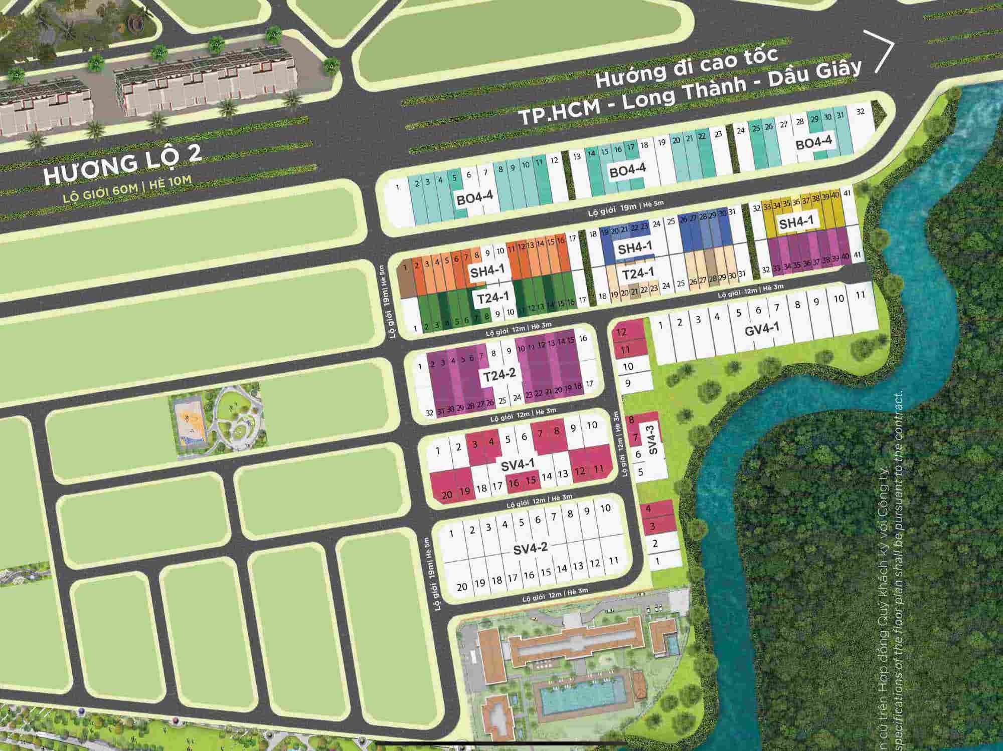 mặt bằng chi tiết giai đoạn 1 aqua marina aqua city