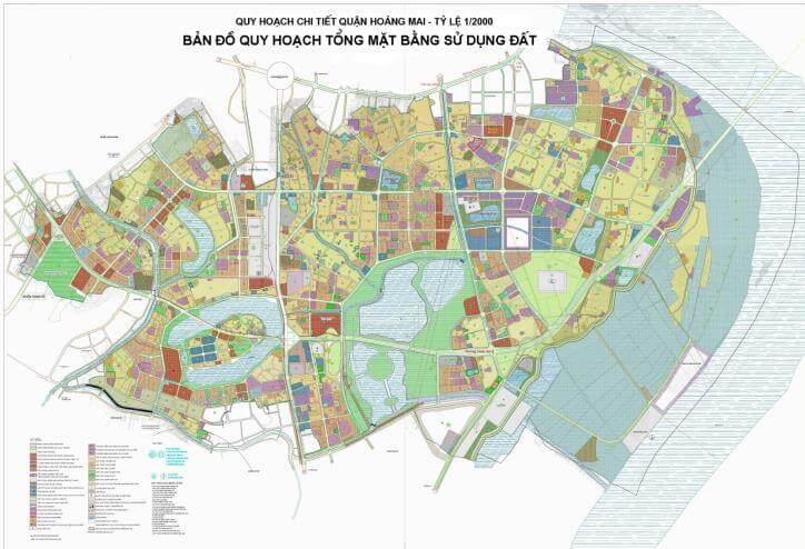 Thông tin quy hoạch và bản đồ quy hoạch quận Hoàng Mai mới nhất