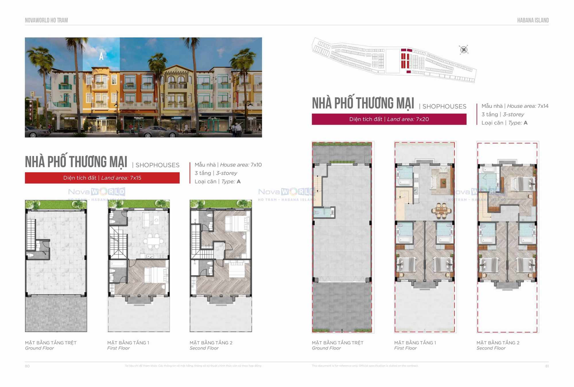 Thiết kế Shophouse Habana Island NovaWorld Ho Tram