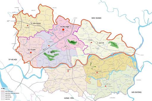 Bản đồ quy hoạch thành phố Bắc Ninh đầy đủ, mới nhất 2021