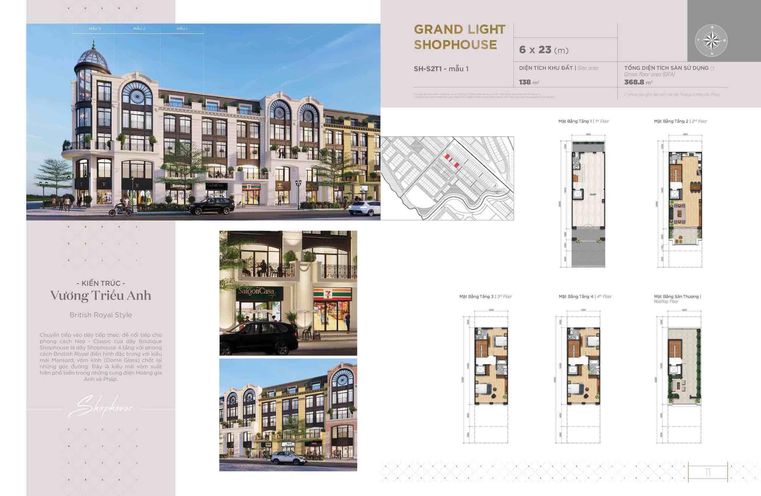 Thiết kế Shophouse Aqua Marina Aqua city