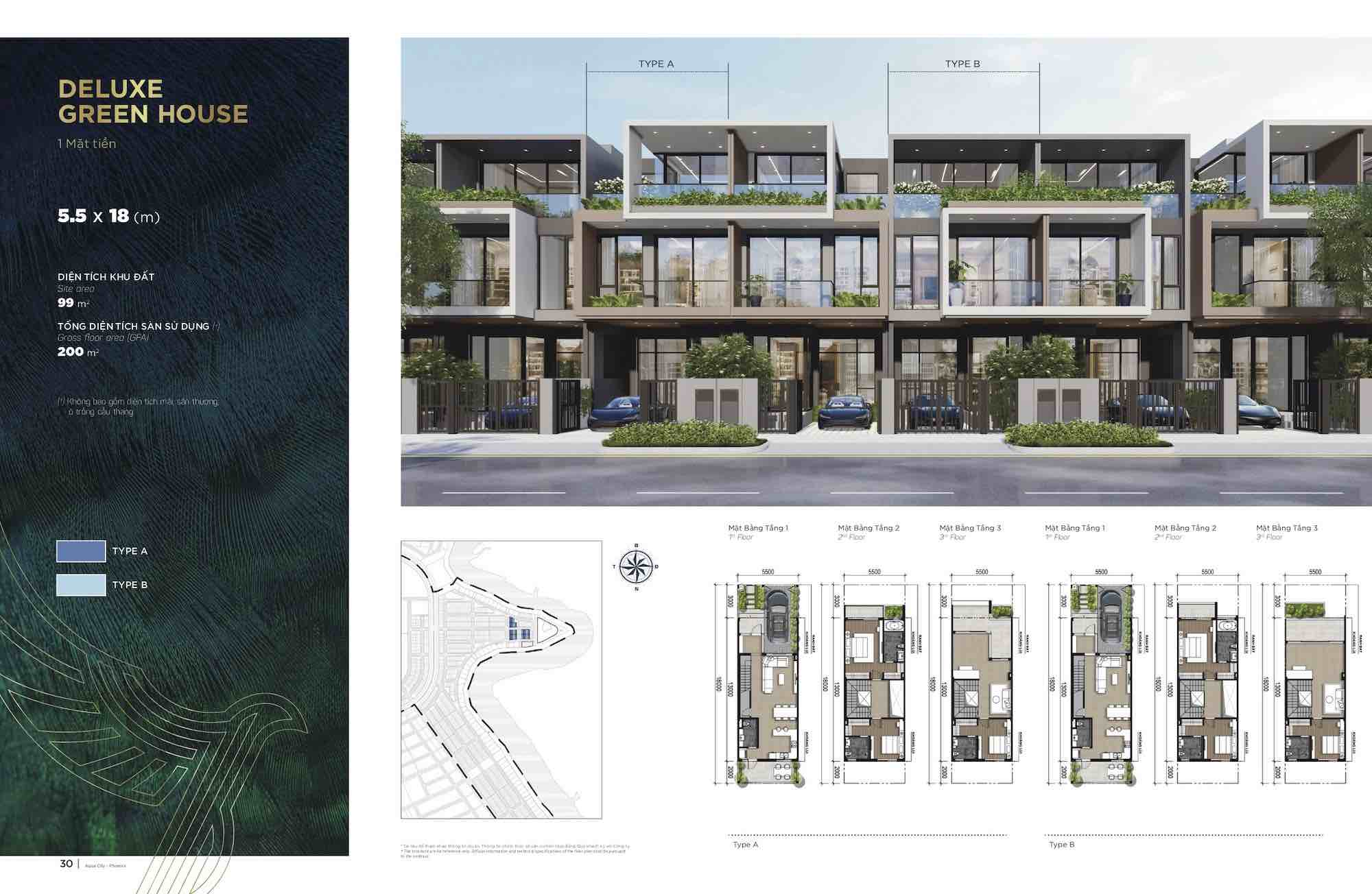 Thiết kế chi tiết nhà phố biệt thự Phoenix Central Aqua city