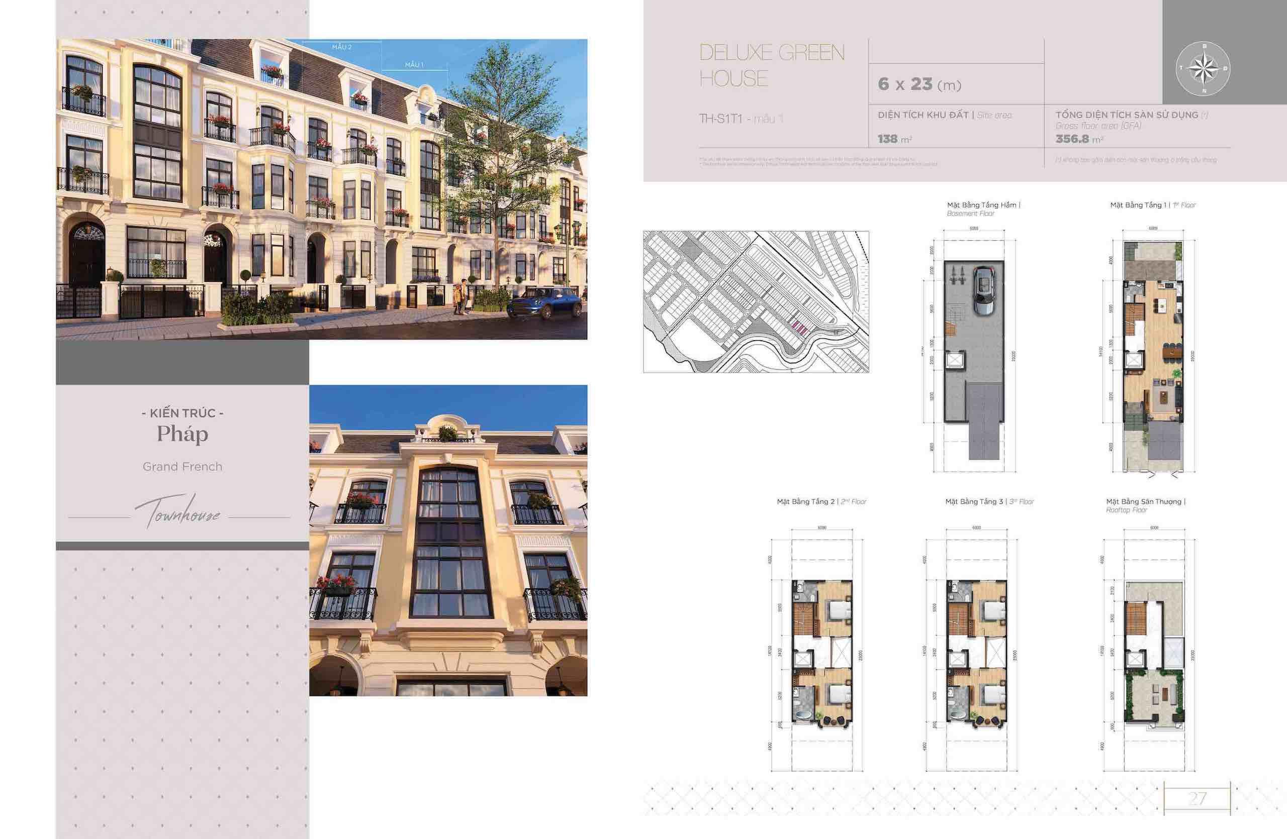 Thiết kế Townhouse Aqua Marina Aqua city
