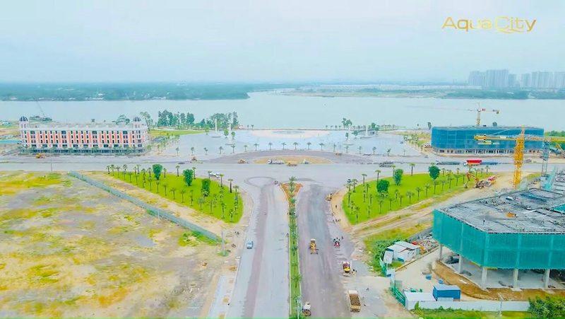 Hình ảnh thực tế dự án Aqua City tháng 7/2021